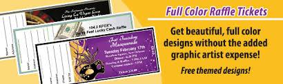 Raffle Ticket Printing Full Color Raffle Tickets