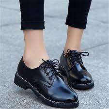 Для женщин Туфли на шнуровке Полиуретан Повседневные ...