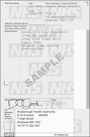 prescription writing british national formulary specimen prescription