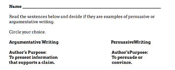 argumentative vs persuasive writing student worksheet argumentative vs persuasive writing student worksheet