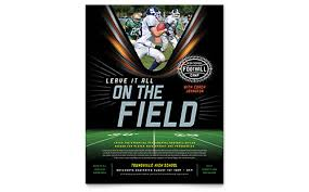 flyer templates  sample flyers amp examples football training flyer template