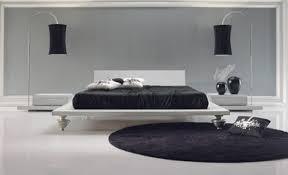 black white modern bedroom