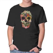 <b>Floral Skull Vintage</b> – TeeFury
