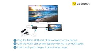 <b>gocomma Micro USB</b> to HDMI MHL Adapter - Gearbest.com - YouTube
