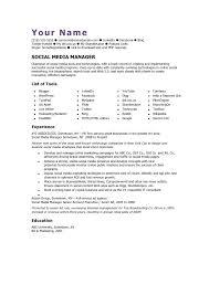 social media manager cv template social media marketing resume sample