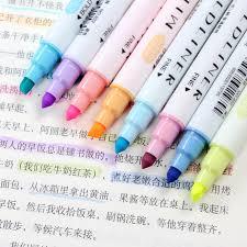 <b>12 Pcs</b>/<b>set Japanese</b> Mildliner Pens Milkliner Double Headed ...