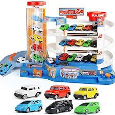 Amazon.com: Garage Playset, 3D <b>Car</b> Parking Garage <b>Toys</b> DIY ...