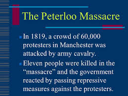 「The Peterloo Massacre map」の画像検索結果