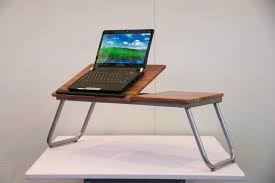 charming business desks furniture with brown wooden modern portable laptop desk along stainless table legs also black home office laptop desk furniture