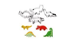 Juland 4 PCS <b>Dinosaur</b> Cookie Cutter Set Stainless Steel Jurassic ...