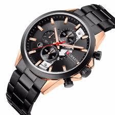 Curren 8325 stainless steel <b>watch</b> calendar <b>sports</b> business <b>leisure</b> ...