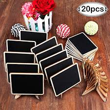 AerWo 20 Pack Wooden Mini Chalkboards Signs with ... - Amazon.com
