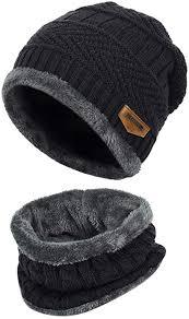 VBIGER 2-Pieces <b>Winter Beanie</b> Scarf Set <b>Warm Hat</b> Thick Knit Skull ...