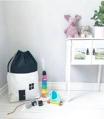 <b>Canvas House</b> Shape Toy <b>Storage</b> Hanging <b>Bag</b> for Kids ...