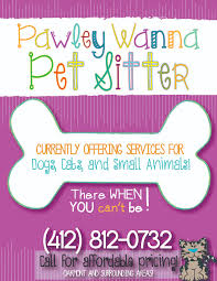 flyer design for local pet sitting company pet services design custom pet sitting flyers on com shop wordstoart