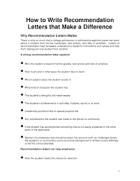 how to write a letter of recommendation for a student scholarship recommendation letter writing