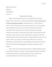 rhetorical situation essay  liaoipnodnsru text analysis essay rhetorical situation and research june lambert robert curtis lambertenglish professor bolton june