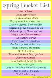 <b>Spring Bucket</b> List For <b>Kids</b> and Families   <b>Spring</b> activities, <b>Spring</b> ...