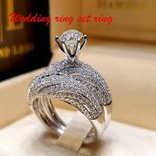 New Exquisite Women's Jewelry 925 Sterling <b>Silver Full Diamond</b> ...