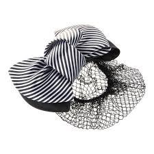 Черно-белый цвет полоса <b>бант</b> Deco чистая <b>заколка</b> для волос