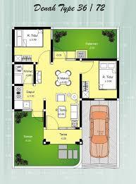 desain denah rumah tipe 36: Desain rumah tipe 36 minimalis terbaik untuk anda jaaru com