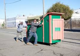over the years he built numerous small houses bars and restaurants from recycled shipping containers and even transformed a dumpster into a luxurious artist creates mobile homes