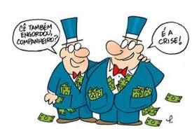 Resultado de imagem para banqueiros charge