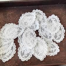 <b>10Pcs</b>/Lot White cotton organza embroidery fabric <b>lace</b> patch trim ...