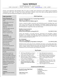 sample job specific resume templates resume sample information sample resume resume template sample for supervisor construction work experience sample job specific