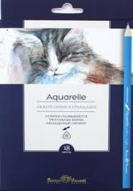 """""""Карандаши <b>акварельные</b> """"Aquarelle"""" (18 цветов, трехгранные ..."""