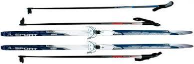<b>Лыжи</b> беговые STC с <b>креплениями 75 мм</b> и стеклопластиковыми ...