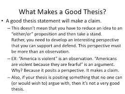 how to make a good thesis statement for an essay mlanodnsca
