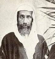 Imam Wahabi Menyerupai Pendeta Yahudi memakai ghurtah kain penutup kepala (tapi bukan sorban/turban)