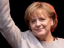 Frankrikes president Nicolás Sarkozy och Angela Merkel som tillsammans leder EU:s finanspolitik ger nu beröm till regeringschefen José Luís Rodríguez ... - 799px-Angela_Merkel_2008