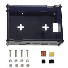Black DIY Acrylic Case Box Shell with Screw and Black Big Copper ...