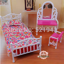 free shippingdream bed set dresser for barbie dolldoll furniture doll accessories for barbie doll furniture diy