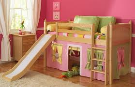 girls loft with play tent pink green and bedroom loft furniture