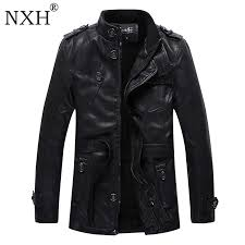 NXH <b>2018 New arrival</b> Men's winter <b>PU</b> Leather Jacket Lining Fur ...