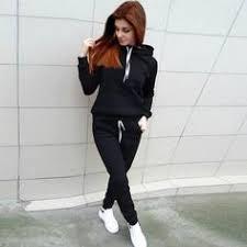 Sport Suit Women <b>Autumn Winter</b> Tracksuit Wine Pullover Top Shirts ...