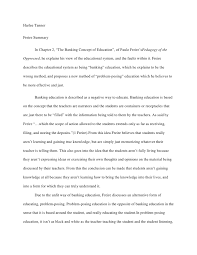 the banking concept of education essay  wwwgxartorg freire revised summaryharlee tannerfreire summary in chapter the banking concept of education