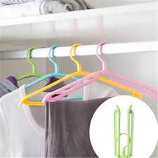 Portable Folding <b>Plastic</b> Clothing Foldable Coat Hanger <b>Travel</b> ...