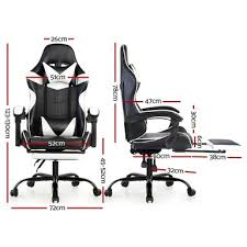 Artiss Black & Gold PU <b>Leather Office Gaming</b> Chair | Bunnings ...