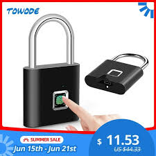 <b>Towode Keyless USB</b> Rechargeable Door Lock Fingerprint Smart ...