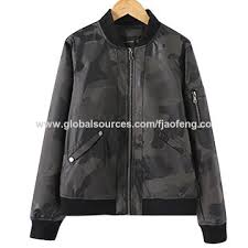 China Spring/Autumn Camo Uni-<b>Sex PU</b> Jacket Baseball Coat from ...