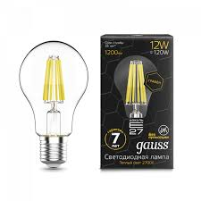 <b>Лампа Gauss LED Filament</b> Graphene A60 E27 12W 2700К 1/10/40 ...