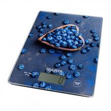 <b>Весы кухонные MARTA MT</b>-1634 <b>черничная россыпь</b> — купить в ...