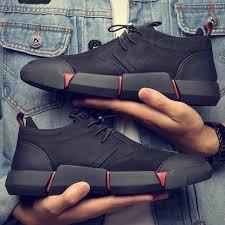 <b>NEW Brand</b> High quality <b>all</b> Black Men's leather <b>casual shoes</b> ...