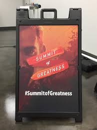 wide format steele creek printing design summit of greatness event lab a frame sign