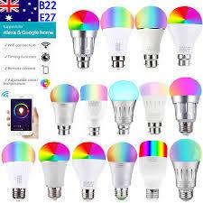 AU 11W <b>15W</b> Smart <b>WiFi</b> Light B22 E27 RGB <b>LED Bulb</b> For Amazon ...