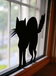 halloween gallery wall decor hallowen walljpg window decoration  ci manvi drona halloween window silhouette cat vjpgrendhgtvcom